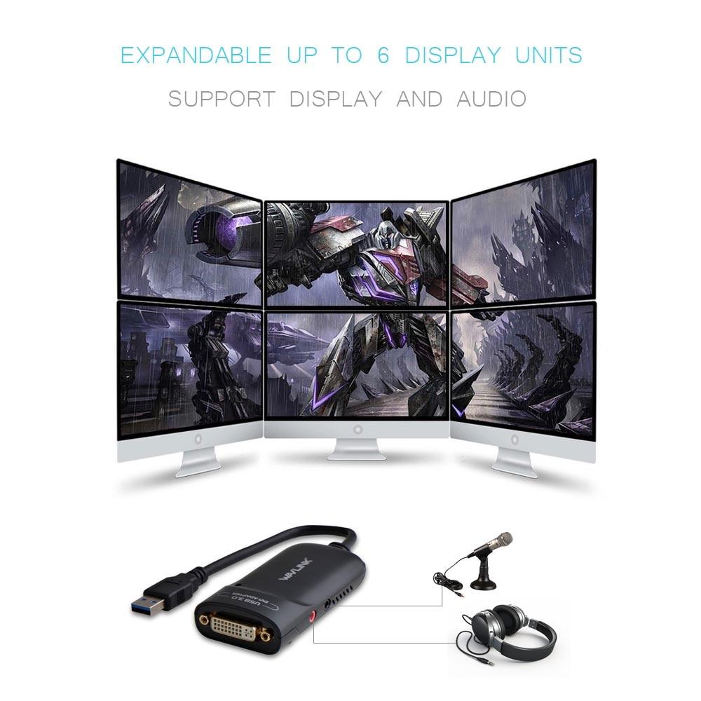 Wavlink USB 3.0 to DVI Արտաքին վիդեո քարտեր Video - Համակարգչային մալուխներ և միակցիչներ - Լուսանկար 4