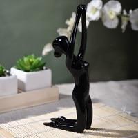 Cheap Elegant Yoga Little Girl Nude Polyresin Figurines Home Decorations Modern Miniature Fashion Creative Crafts Love Gift