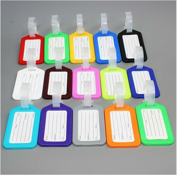 3pcs/lot Travel or On a business trip Practical Luggage bag Tags wholesale Plastic baggage tag Free shipping