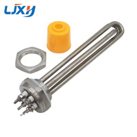 LJXH DN32 Heating Element 220V 380V For Water 1 2 Thread Immersion Water Heater Tube 304