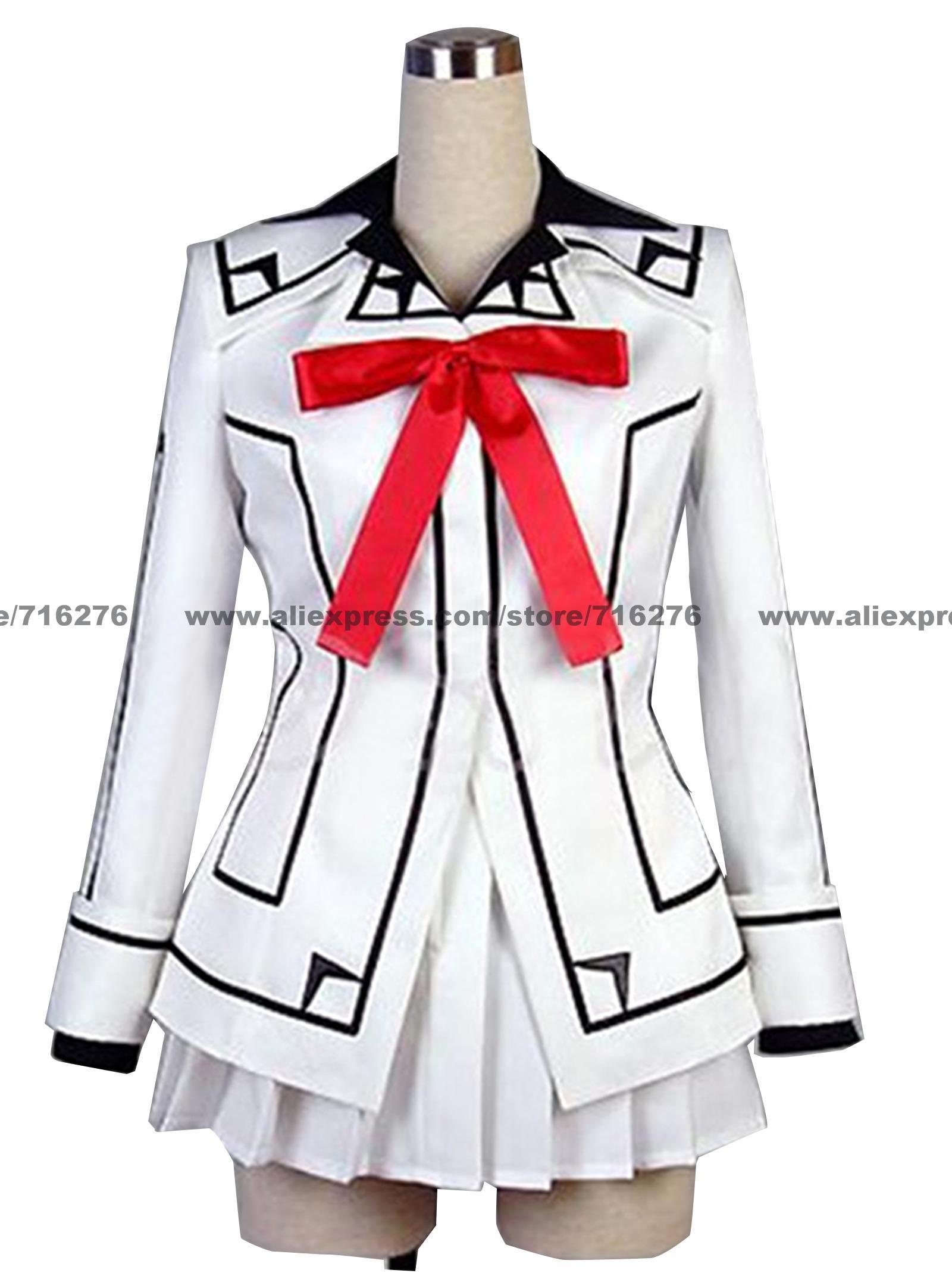 Anime Vampire chevalier Cosplay-Vampire chevalier Cosplay nuit classe fille Kurosu Yuuki uniforme femme Costume brassard inclus