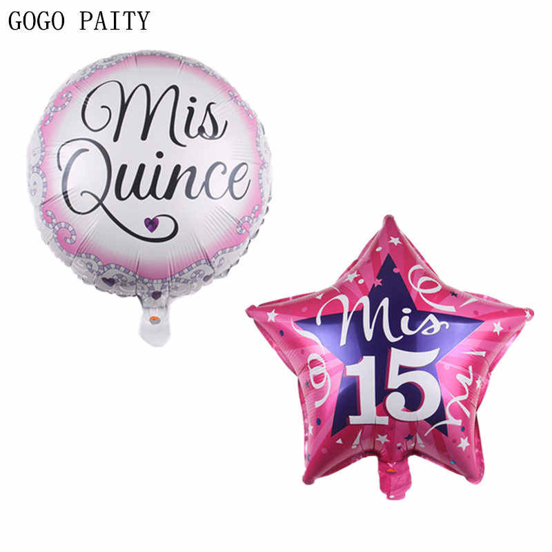 GOGO PAITY  New 18 inch Spanish my 15 year old aluminum balloon holiday party atmosphere decoration decoration toy high quality
