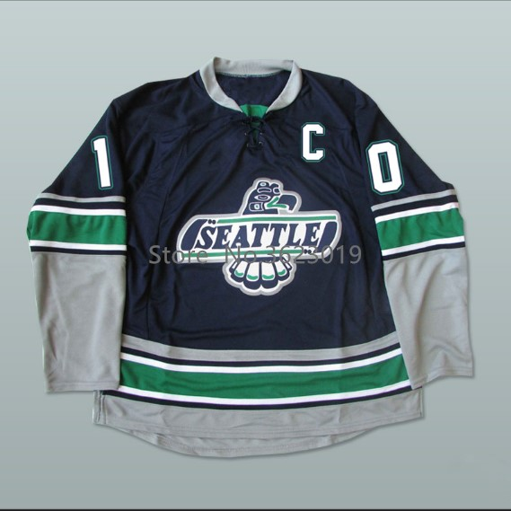Whl Legend Glen Goodall 10 Seattle T Birds Hockey Jersey Embroidery