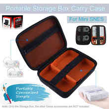 2018 New Portable Protective Storage Box Carry Case for  Nintendo SNES Mini Console Travel Pouch Bag