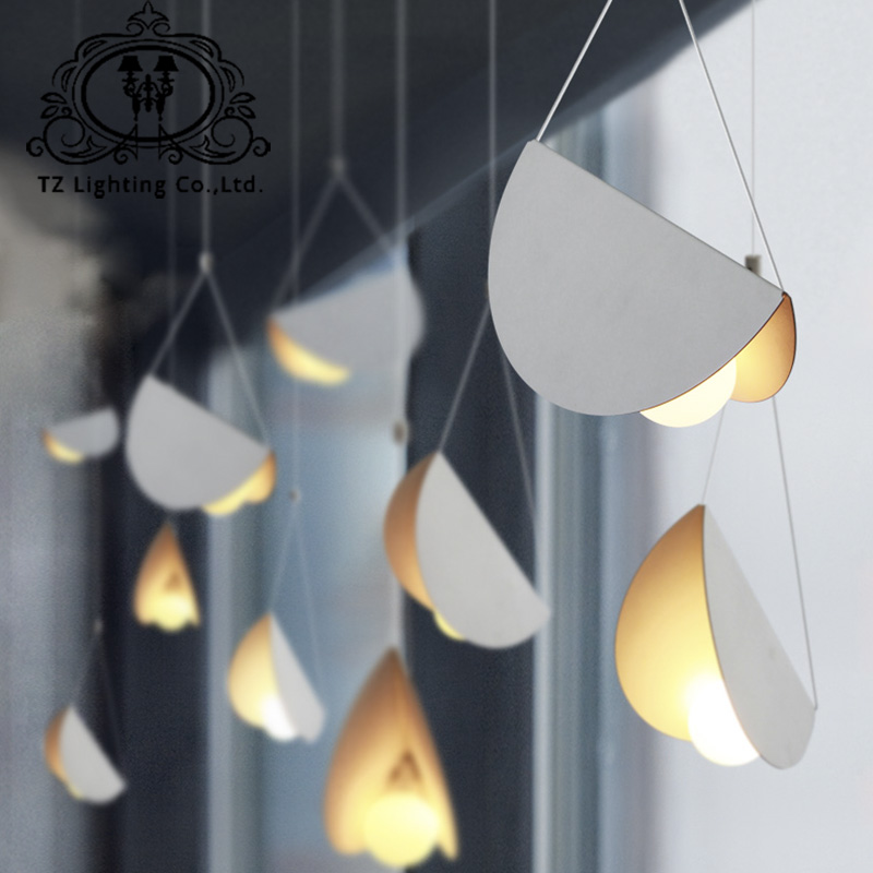 buy tz modern origami art pendant lamp creative flying shell folded paper cafe. Black Bedroom Furniture Sets. Home Design Ideas