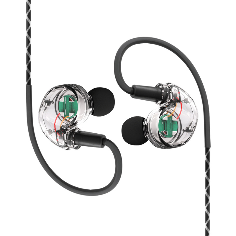 Z04 Sport HiFi Waterproof Earphones with Mic Cell Phone Running Stereophone Transparent Headset Music Earpieces Subwoofer