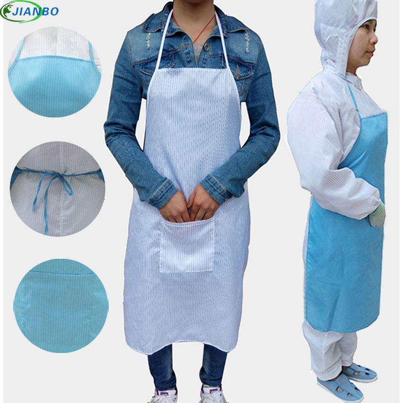 Restaurant Welder Antistatic Polyester For Work Welding Apron Protection Unisex Work Wear Dustless Aprons With Pockets For Woman