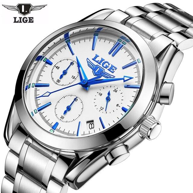 e795eef6fb8c Nuevos relojes casuales LIGE para hombre