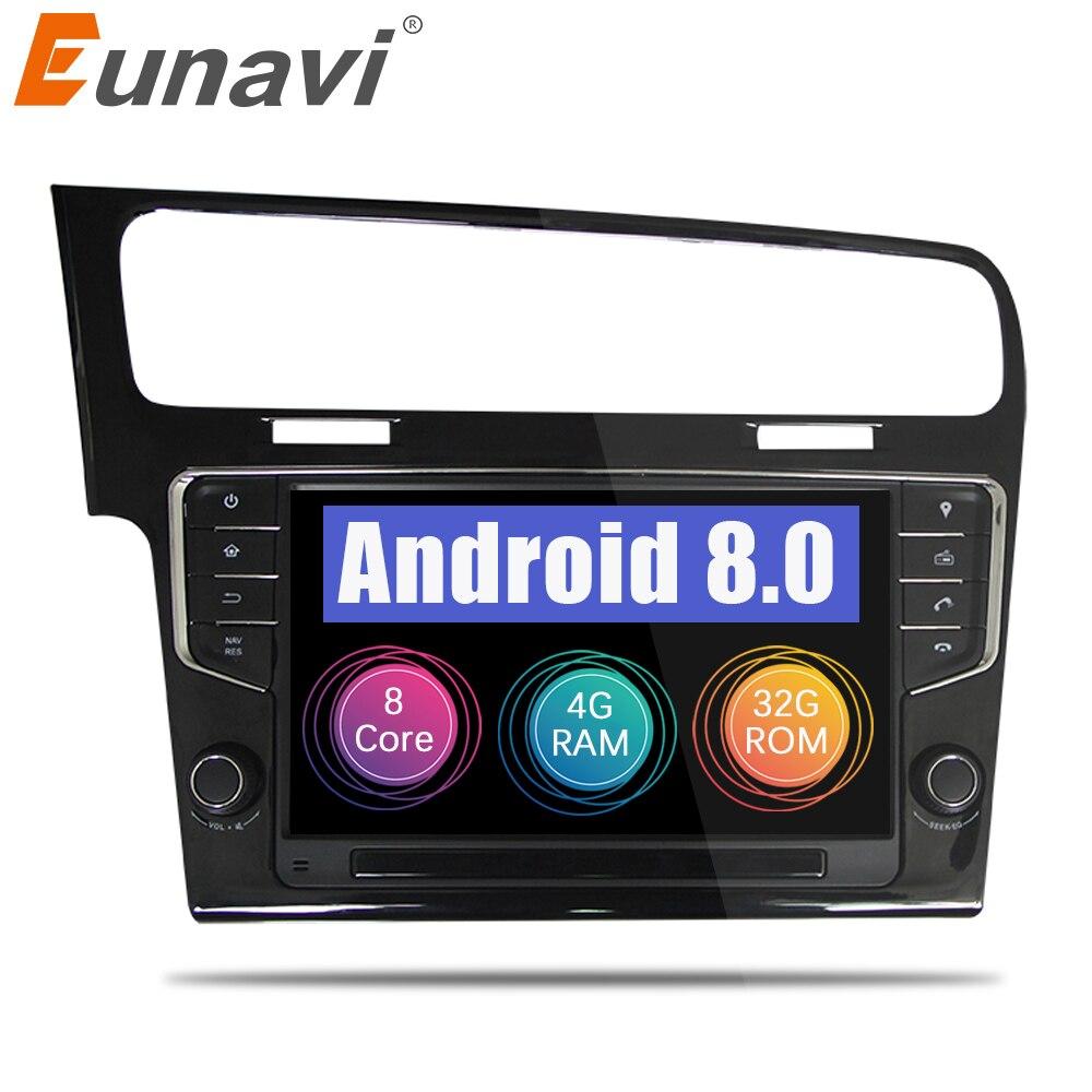 Eunavi Octa Core 9 ''Android 8.0 4 gb di RAM Auto Radio Player GPS per VW GOLF 7 golf7 2013 -2017 unità di testa stereo audio di navigazione