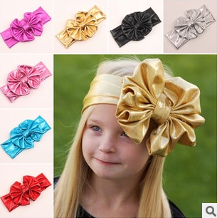 7-color 2015 new children gilt golden fabric bow headband baby hair band hair ac