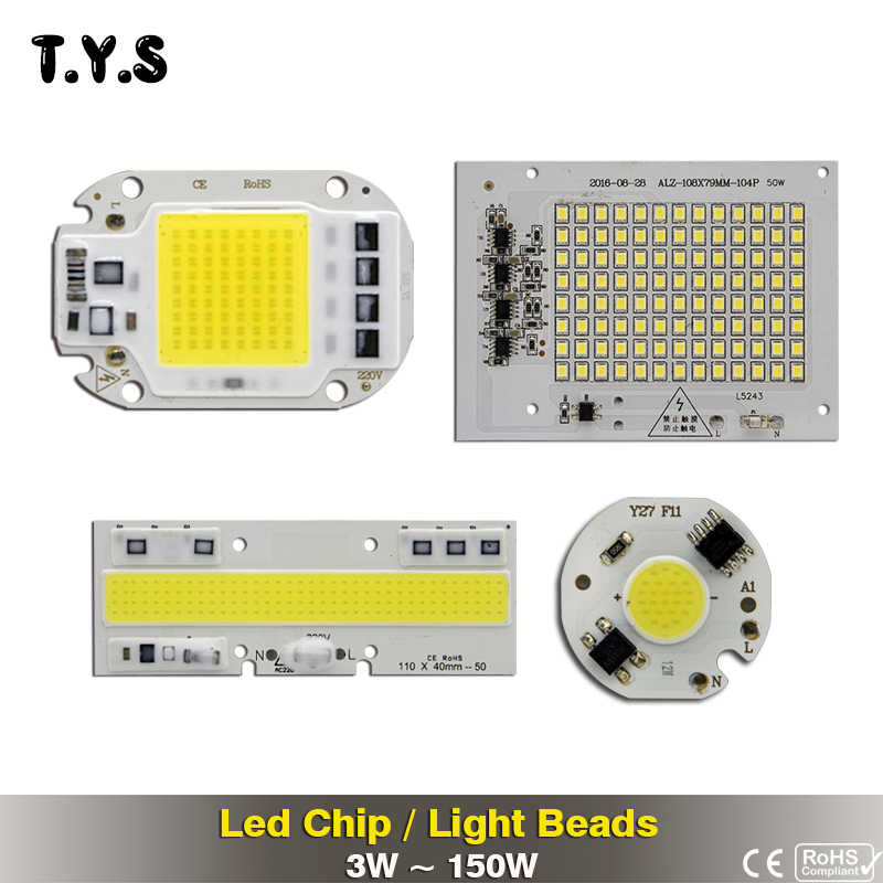 High Power Smart IC SMD COB LED Chip Bulb 220v Light Beads 150w 100w 50w 30w 20w 12w 10w 5w 3w For DIY LED Floodlight Spotlight