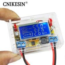 CNIKESIN Diy kit DC-DC регулируемый шаг вниз Регулируемый модуль питания Пояс вольтметр амперметр Двойной Дисплей С Акриловой Случае