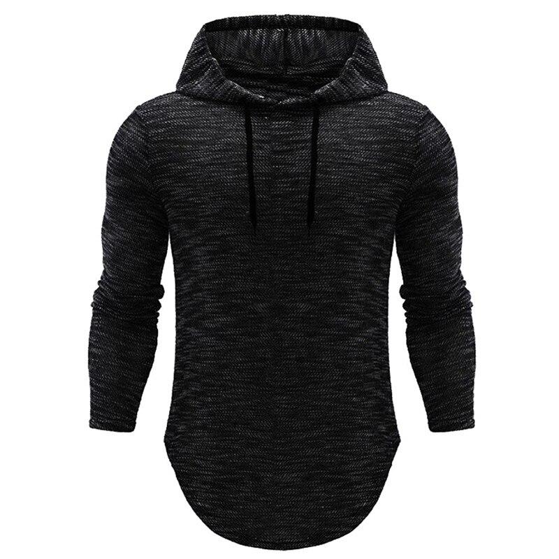 2018 Brand Hoodies MenHip-hop Male Long Sleeve Solid Color Hooded Sweatshirt Mens Hoodie Tracksuit Sweat Coat Casual Sportswear
