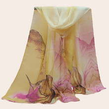 New chiffon high-grade Fashion silk scarf  scarves long women high quality fashion 2018