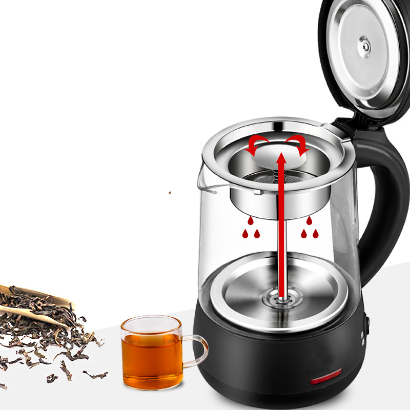 купить Brew tea pot black Pu 'er glass fully automatic insulated teapot made kettle steam boiled Safety Auto-Off Function недорого