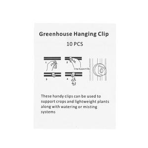 Image 4 - 10 個温室プラスチックハンガークリップ鉢植えフック植物ハンガー温室ガジェットハンギングための温室