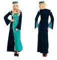 Новый стиль женщины старинные костюмы арабские национальные костюмы велюр платье бесплатная размер для хэллоуина горячая распродажа