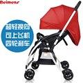 Sallei two-way luz carrinho de bebê guarda-chuva dobrável carro criança carrinho de bebê de carro do bebê