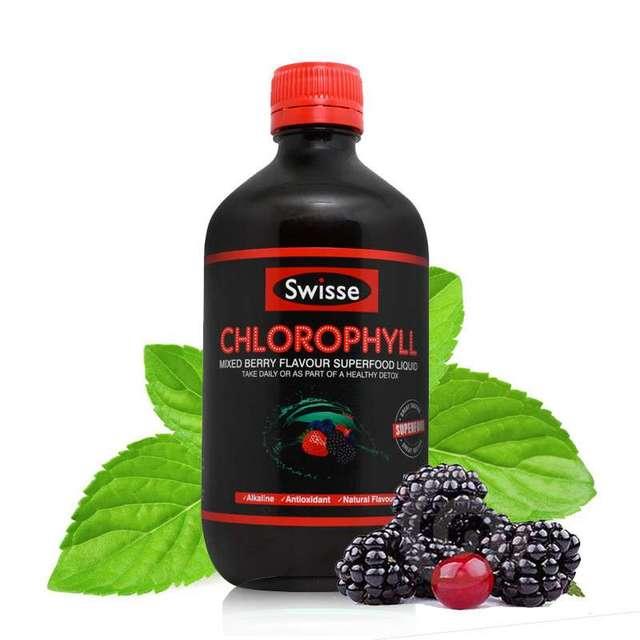 Swisse Clorofila de Bayas Mixtas alcalina saludable bebida verde súper antioxidantes saludable programa de desintoxicación Adecuado para vegetarianos
