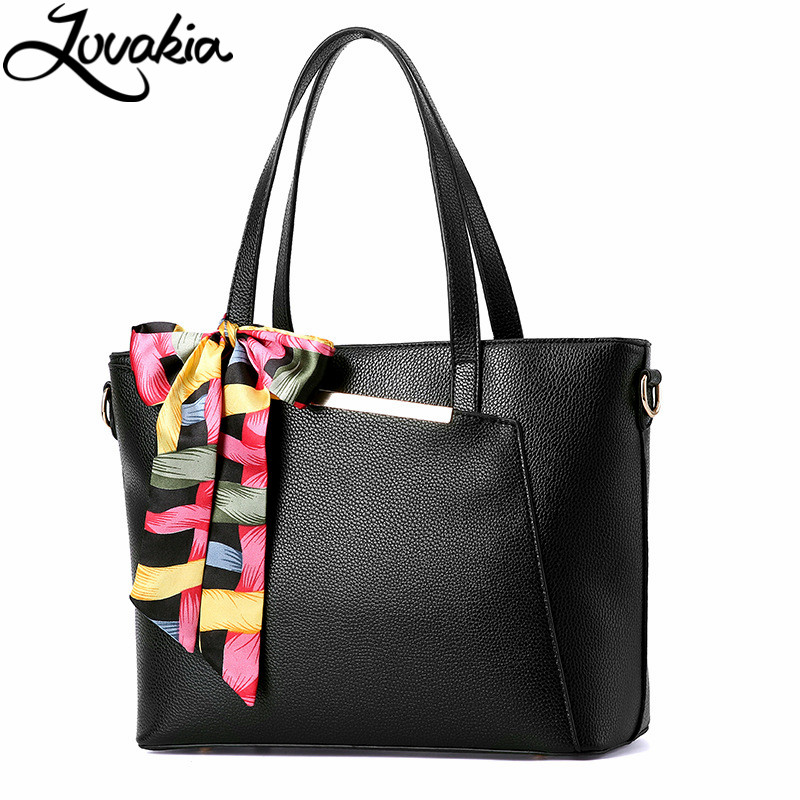ФОТО Lovakia 2017 New Women's Handbag Shoulder Bags Famous Brand Designer Hand Bags For Women Leather Bags With Scarves