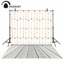 Allenjoy photography background Colorful Lovely arrows Wood floor backdrop font b photo b font studio background