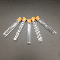 100pcs/pack Lab Plastic Test Tube With Cork Stoppers 15x150mm Laboratory School Educational Supplies Top Quality