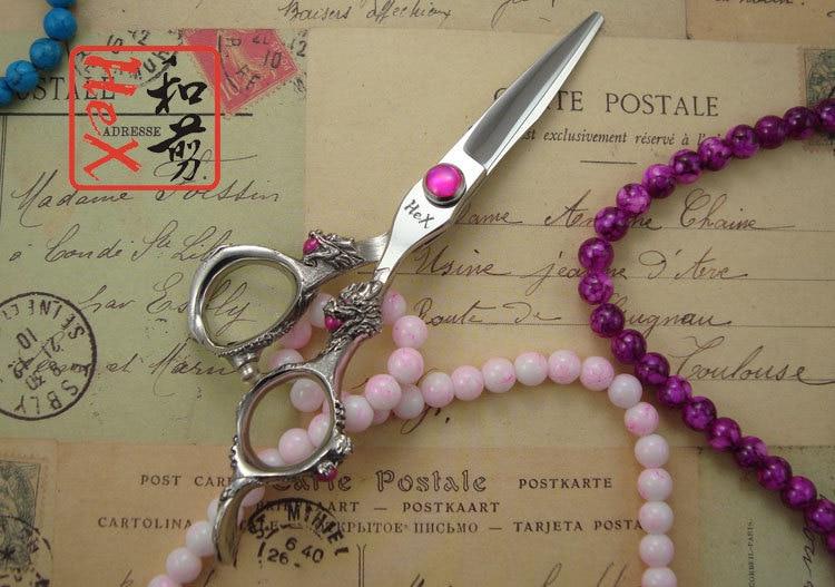 Tijeras de corte de pelo de dragón púrpura HeX tijeras 5.5 - Cuidado del cabello y estilo - foto 2