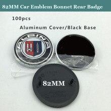 100 piezas de alta calidad ABS nuevo 82 MM capó delantero emblema insignia trasera maletero logotipo para E46 E30 E39 E34 e60 E36 E38 M3 M5 M6 etiqueta tapas