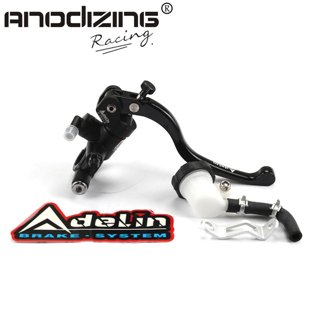 Prix pour Moto 19x18 adelin de frein maître cylindre hydraulique pour honda r1 R3 R6 FZ6 GSXR600 750 1000 NINJA250 ZX-6R Z750 Z800 MONSTRE