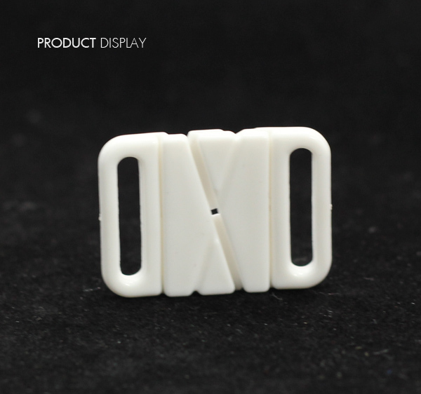 Craft Plastic White Rectangle Tape Closure Hook & Clasp Fasteners Sewing On Clothes Bra Clip Hooks 32mm x 23mm 50piece/NK163