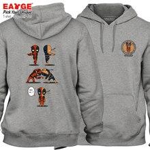 Active Skate Superhero Streetwear Deadpool VS Deathstroke Hoodies Casual Rock Anime Women Men Gray Fleece Warm Sweatshirts