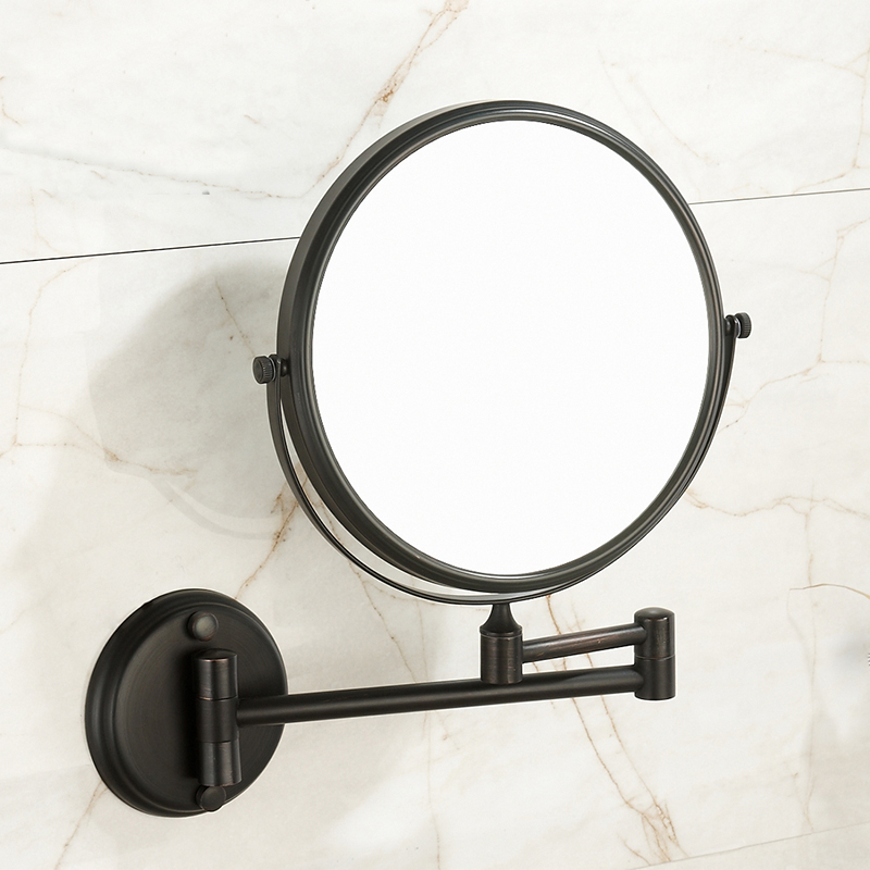Black retro European beauty mirror wall hanging triple magnification bathroom pendant bathroom wall telescopic mirror LO71210 цена 2017