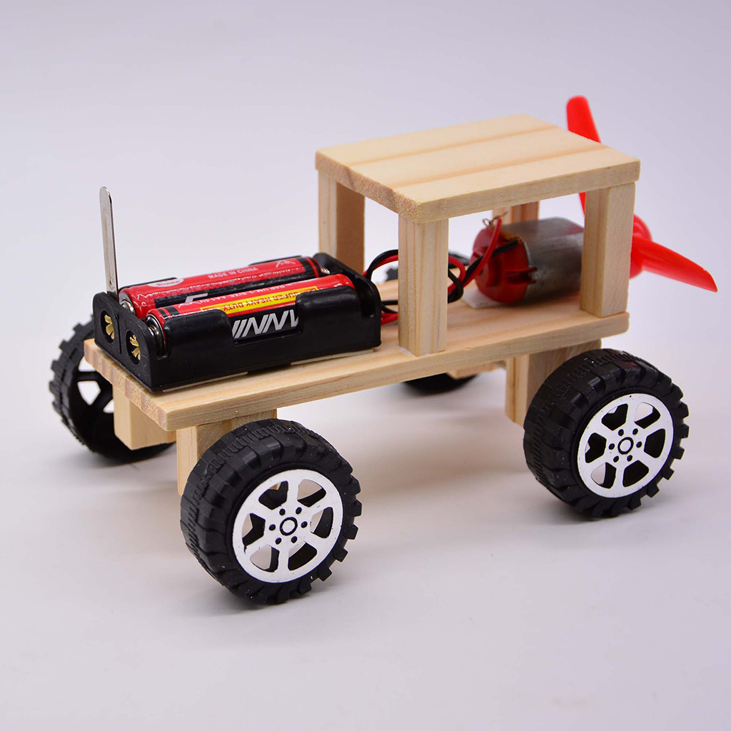 Wind Powered Car Model DIY Assemble Kit School Physics Teaching Learning Equipment Science Educational Toy