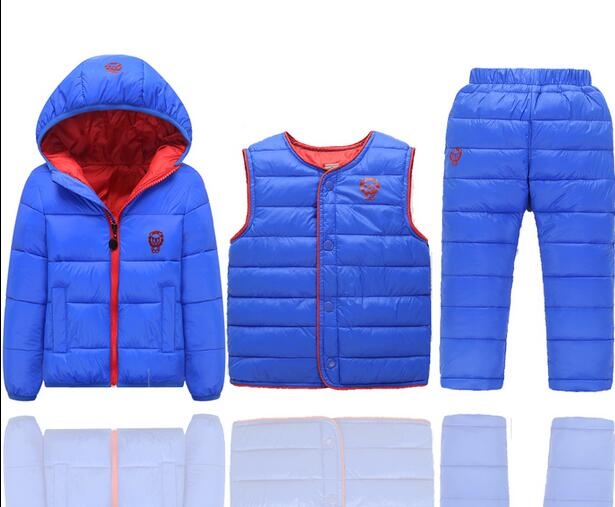 2017 China factory Russia winter  padding jackets +trousers+ overcoat clothing sets for boys ski suit , reima baby snowsuit 2016 winter boys ski suit set children s snowsuit for baby girl snow overalls ntural fur down jackets trousers clothing sets