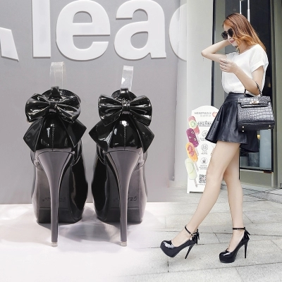 2019 Spring And Autumn New Women's Shoes Super High With 12cm Round Head Korean Version Of The Stiletto High Heels Female-1