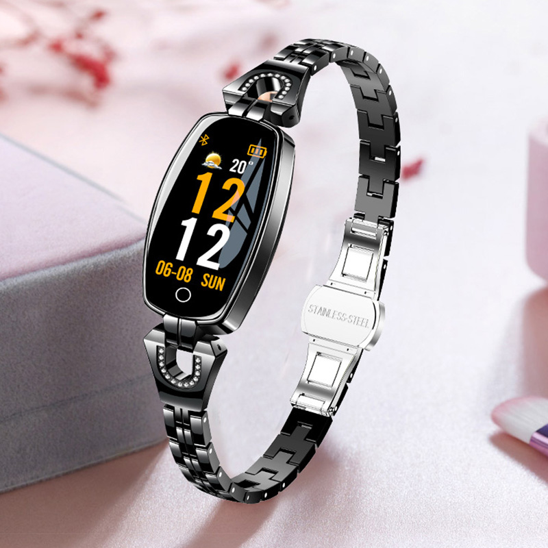 H8 Smart Watch Women Waterproof Blood Pressure Heart Rate Monitoring For Android IOS Fitness Bracelet Smartwatch Drop ShippingH8 Smart Watch Women Waterproof Blood Pressure Heart Rate Monitoring For Android IOS Fitness Bracelet Smartwatch Drop Shipping