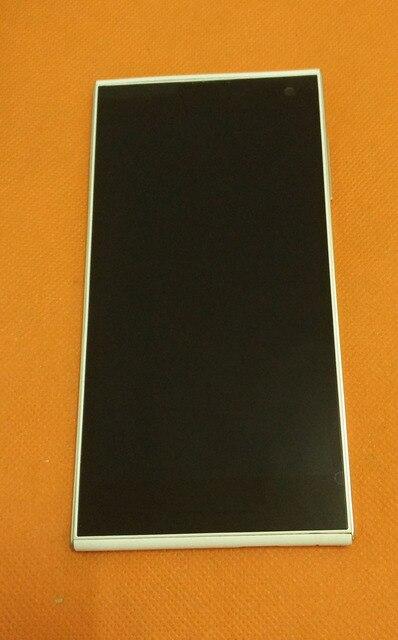 Usado Original LCD Screen Display + Touch Screen + Quadro para iNew V7 MTK6582 Quad Core 5 ''HD 1280*720 Substituição Frete grátis