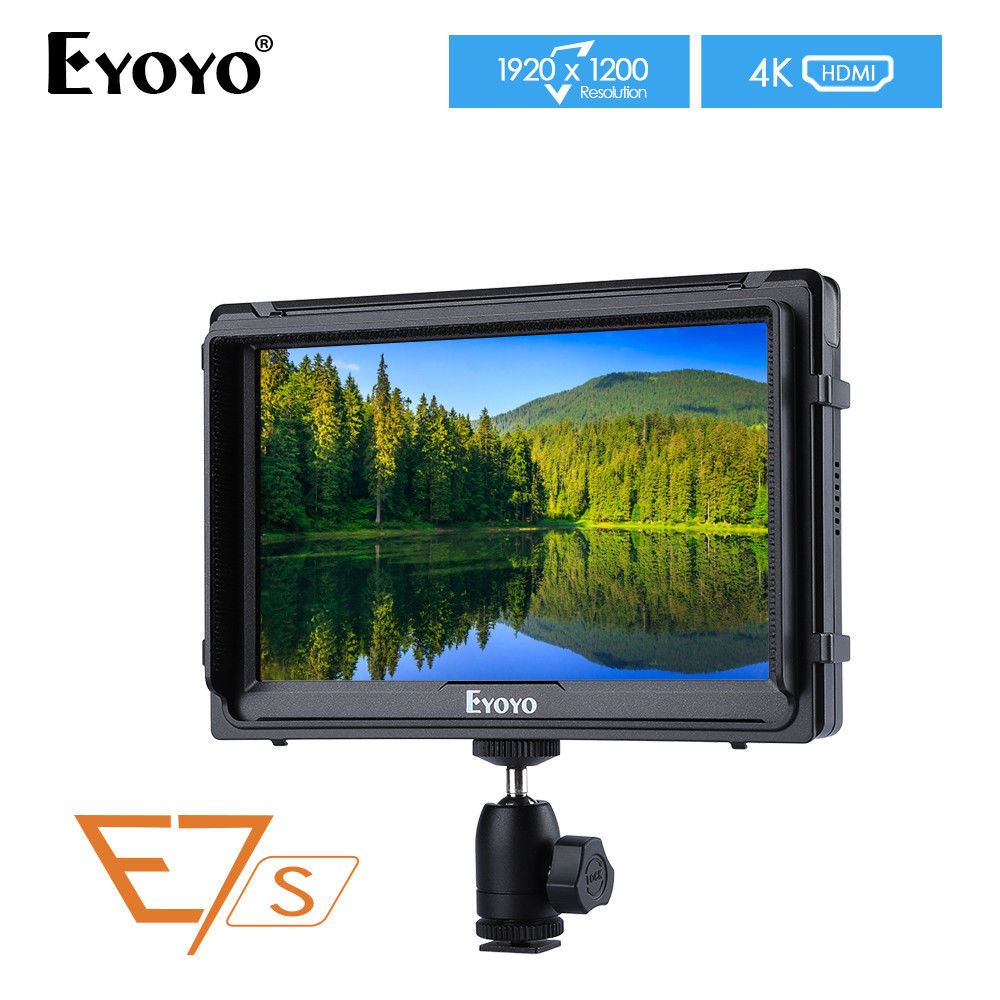 Eyoyo E7S 7'' Ultra HD 4K Field Monitor 1920x1200 IPS Monitor for Sony FS7 Canon A7S2 Mark 5D2/5D3 DSLR Camera