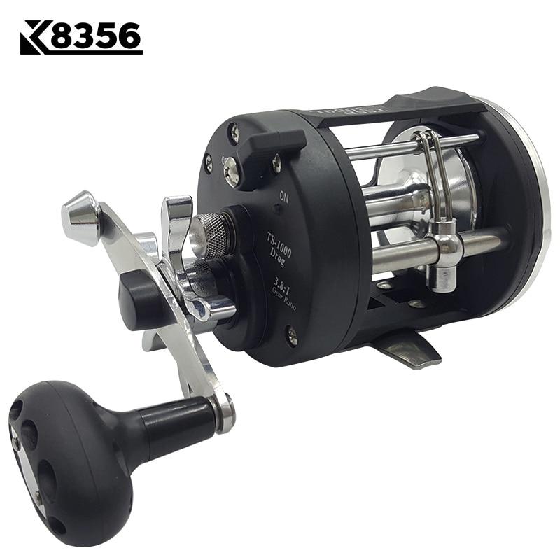 K8356 3 8 1 3BB Trolling Reel Fishing TSSD 2000L 4000L Black Right Hand Casting Sea