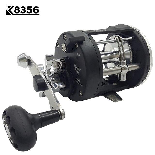K8356 3.8 1 3BB moulinet de pêche à la traîne TSSD 2000L-4000L noir à droite coulée mer moulinet de pêche en eau salée Baitcasting bobine
