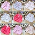 new 2015 spring autumn kids clothes t shirts for girls long sleeve t shirt dress infantil cute Polka Dot pullover outerwear