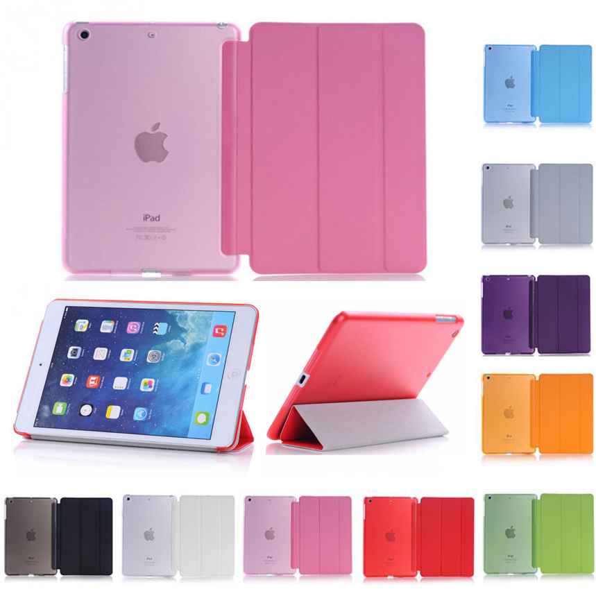 Ultra-thin Slim Tablet Case For IPad Mini 5 2019 Case Flip Magnetic Folding Stand PVC Cover For IPad Mini 5 Flip Smart Case