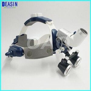 Image 2 - Lampe frontale chirurgicale, lampe dentaire avec loupes tout en un, bonne qualité, 5W LED