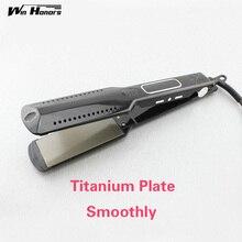 Cheap price HOT Digital Hair Straightener Irons Titanium Flat iron Professional Hair Iron for hairstylist dual voltage