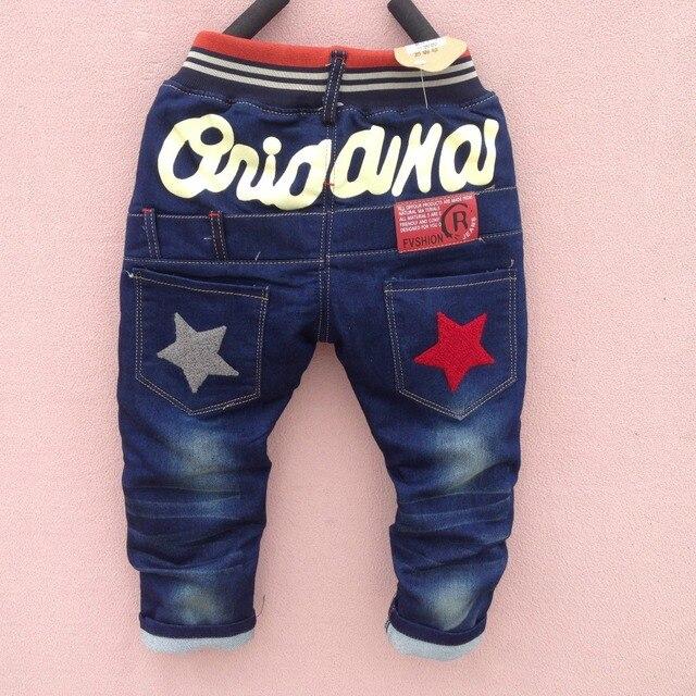 Новый 2-6 Т Весной мальчик джинсы брюки осень детей джинсы толстые теплые ребенок джинсовые брюки зимой дети брюки бесплатная доставка
