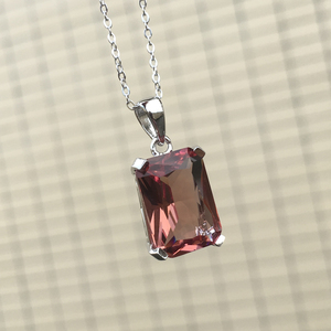 Image 5 - CSJ Classic Design Zultanite Pendant Sterling 925 Silver 10*14MM Created Sultanite Color Change Fine Jewelry Women Party Wedding