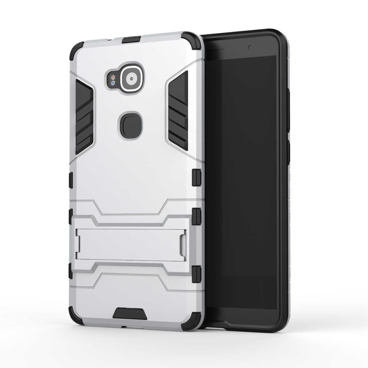 Per Huawei Caso di G8 GX8 Armatura Heavy Duty Hybrid Hard Morbido Robusta Gomma di Silicone Della Copertura Del Telefono Per Ascend G8 G7 più con il Basamento (<