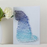 2018 New Purple blue color cat String art decoration gifts 3D diamond painting living room home decoration DIY kit gifts for kid