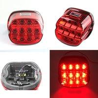Complete Motor Tail Lamp Assembly License Plate Brake Light Lay back LED Motorcycles Braking lights For Harley Davidson