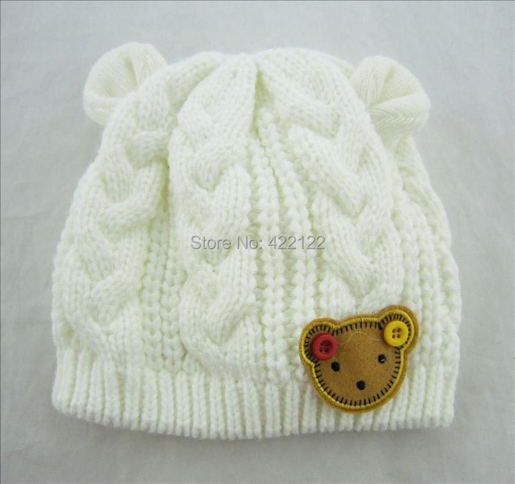 Winter Ear Protector Knitted Hats For Boy/girl/kits Hats,infants Caps Beanine Chilldren-Dot Turtleneck 1pcs/lots  MC02
